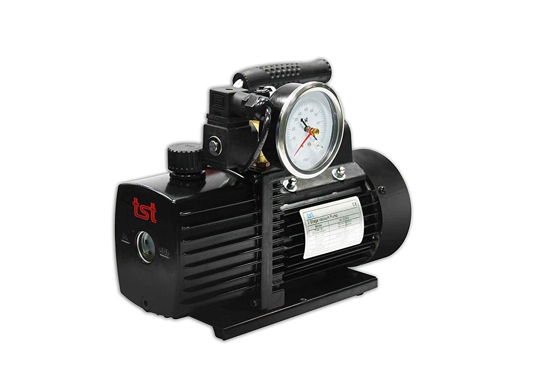 Bomba de Vacío, R32 - 70 litros/min y juego de Manómetros