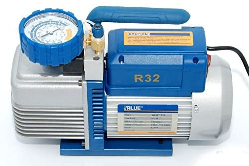 Bomba de Vacío, R32, R22, R134a, R410A, R407C - 100 l/m y Manómetros