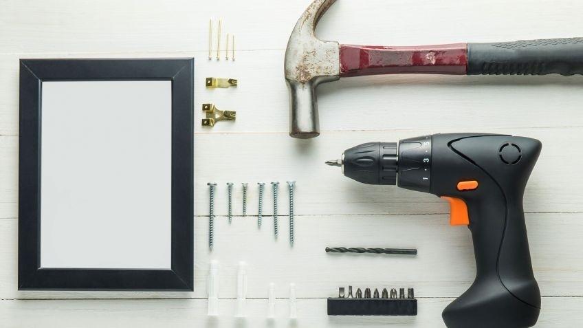 Kit de herramientas para colocar elementos en el Hogar