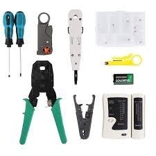 Kit de herramientas para instalar cable de red