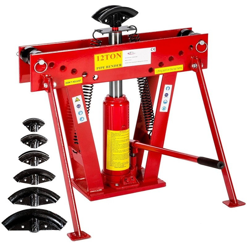 Máquina curvadora hidráulica para tubos 12 toneladas + 6 matrices