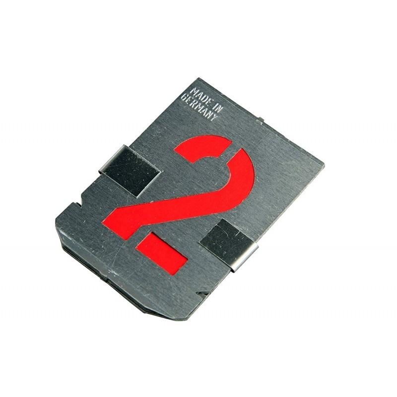 Plantillas de números 0-9, 10 piezas, 100 mm, juego completo