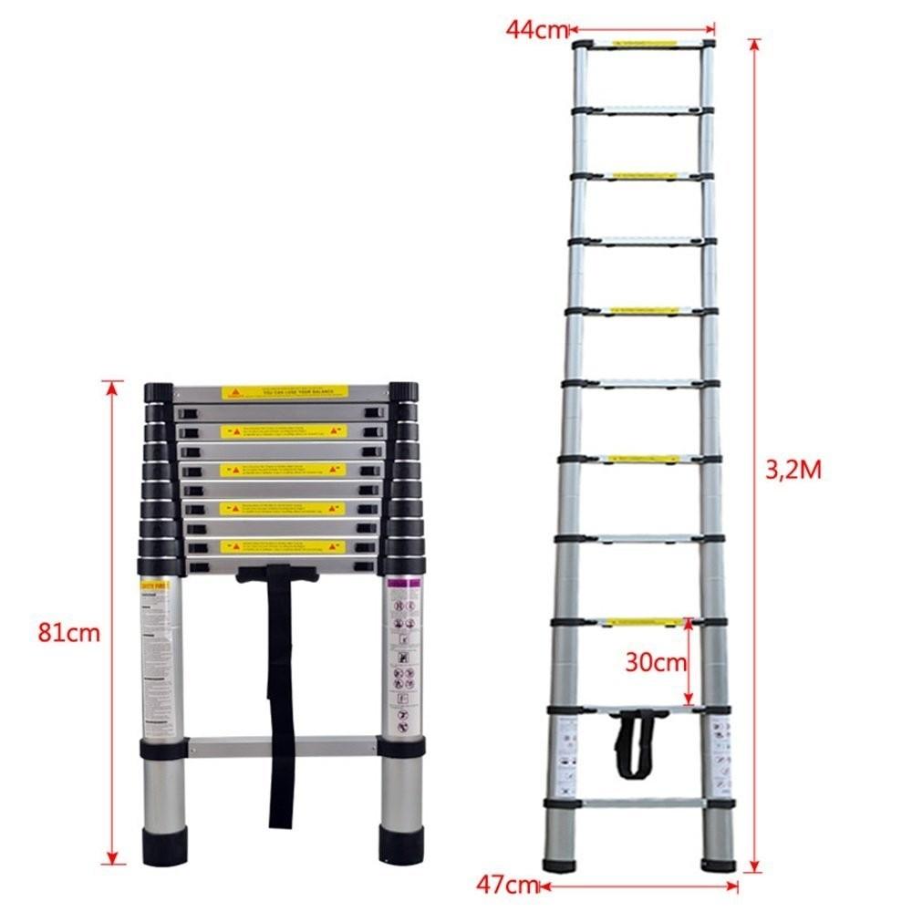 Escalera Extensible de Aluminio 3,20 m