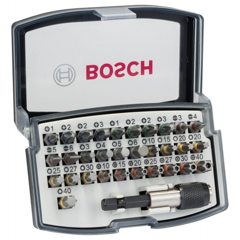 Set con 32 accesorios para atornillar