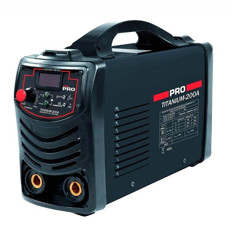 Soldadura  Inverter 200 A  Electrodos de 1,6 a 4 5mm.