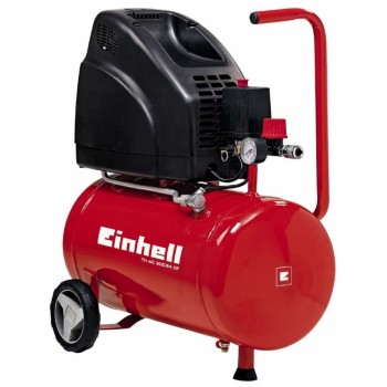 Compresor de aire, 8 bar, depósito 24 l, aspiración 140 lmin, 1100 W, 230 V,