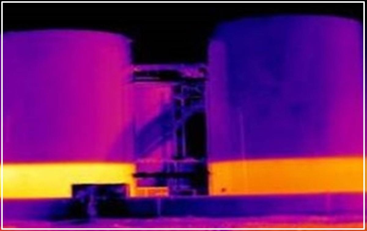 Comprobar el nivel de llenado de depósitos sin acceder a ellos con una cámara termográfica