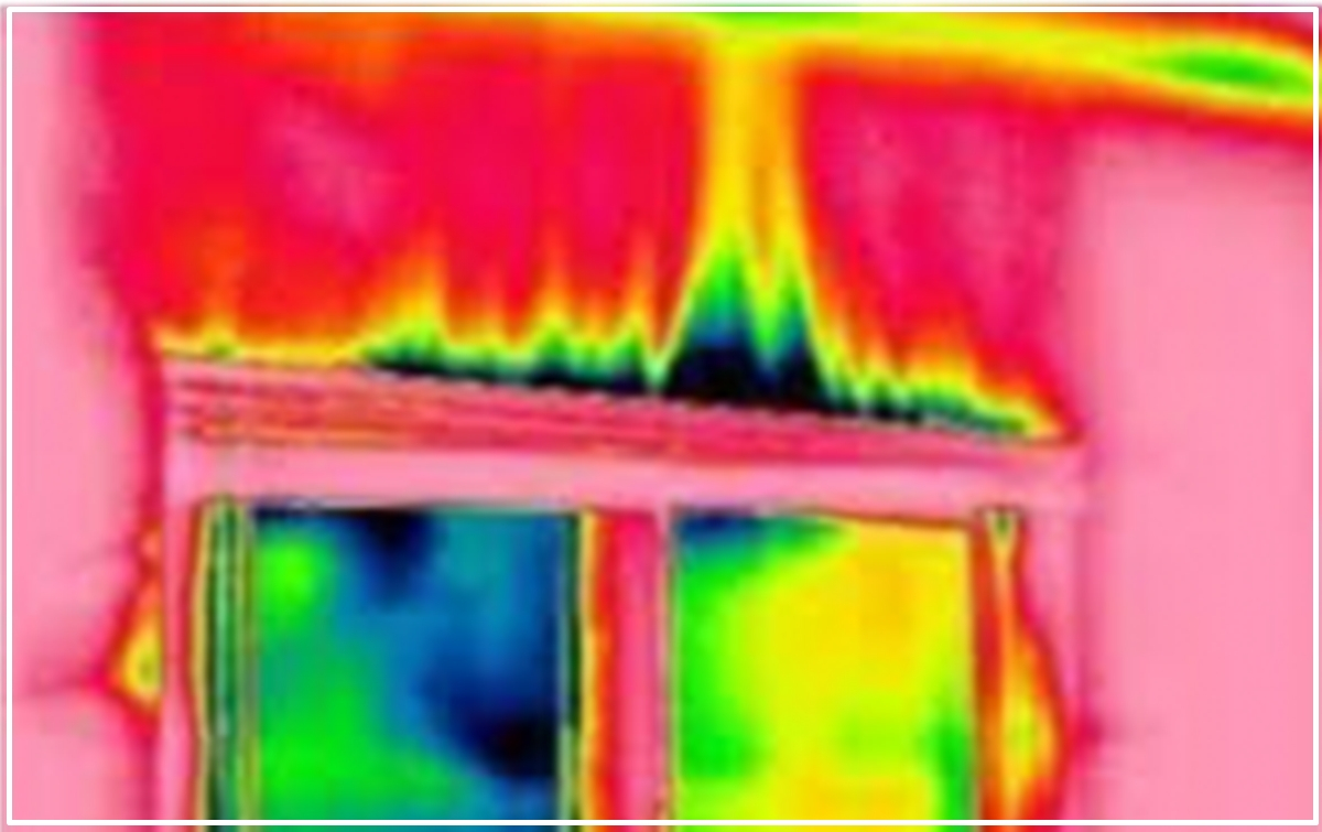 Detección de fugas o corrientes de aire con una cámara termográfica