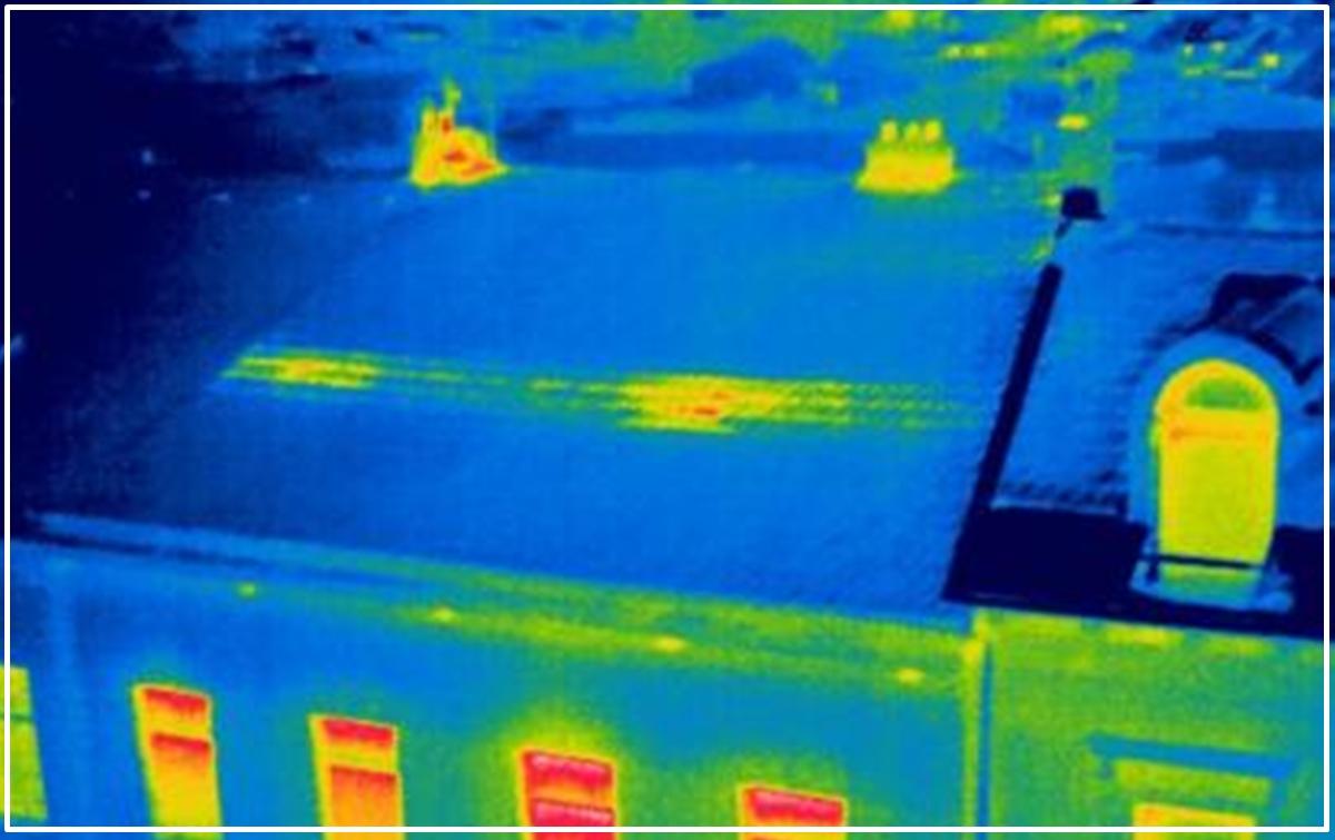 Detección de humedades en tejados y muros con una cámara termográfica